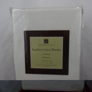 Egyptian Cotton Blanket White Concierge Collection